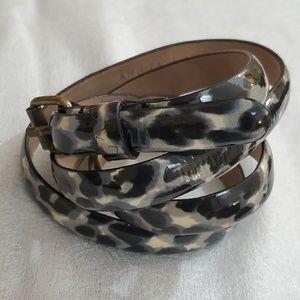 Ann Taylor Grey Animal Print Skinny Belt (M) #655
